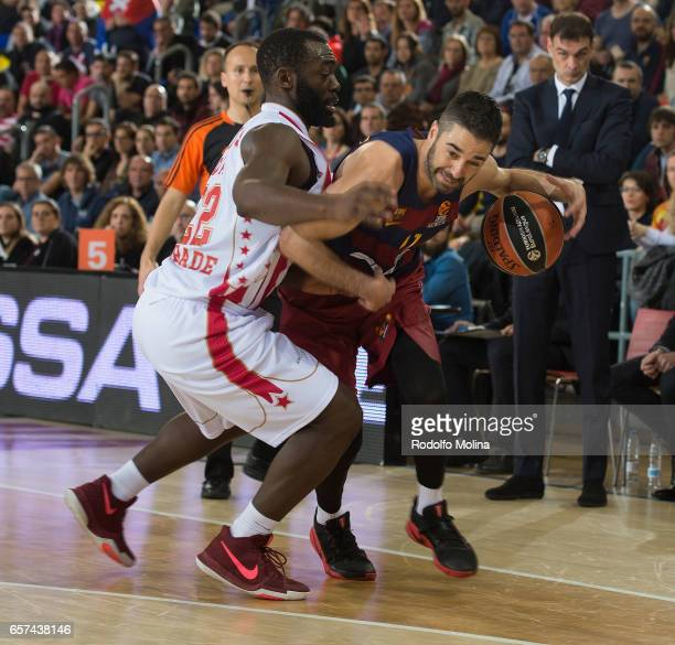 Juan Carlos Navarro #11 of FC Barcelona Lassa in action during the 2016/2017 Turkish Airlines EuroLeague Regular Season Round 28 game between FC...