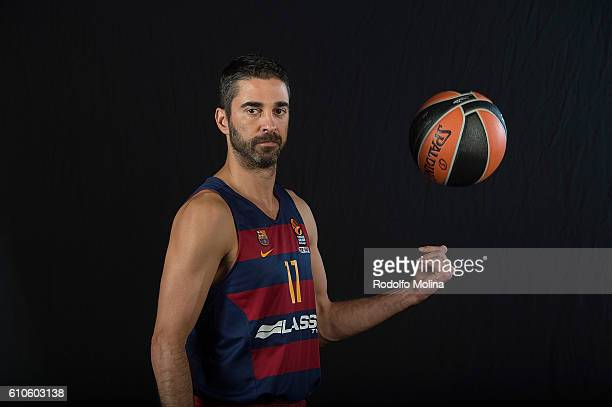 Juan Carlos Navarro #11 of FC Barcelona Lassa poses during the 2016/2017 Turkish Airlines EuroLeague Media Day at Palau Blaugrana on September 26...