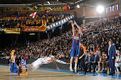 Juan Carlos Navarro #11 of FC Barcelona Regal in action during the 20122013 Turkish Airlines Euroleague Top 16 Date 3 between FC Barcelona Regal v...