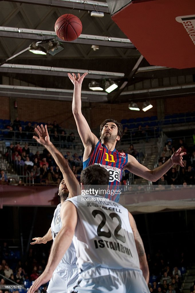 Juan Carlos Navarro, #11 of FC Barcelona Regal in action during the 2012-2013 Turkish Airlines Euroleague Top 16 Date 11 between FC Barcelona Regal v Besiktas JK Istanbul at Palau Blaugrana on March 15, 2013 in Barcelona, Spain.