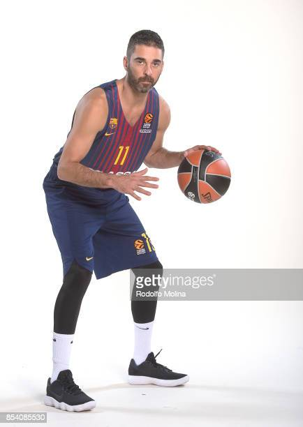 Juan Carlos Navarro #11 poses during FC Barcelona Lassa 2017/2018 Turkish Airlines EuroLeague Media Day at Palau Blaugrana on September 25 2017 in...