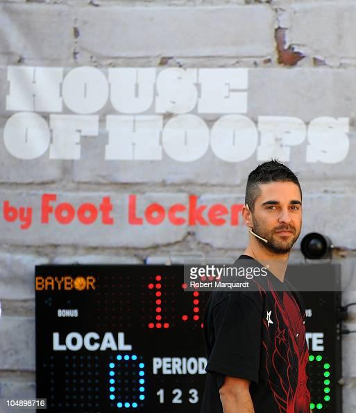 Juan Carlos Navarro attends the 'House of Hoops' contest by Foot Locker on October 6 2010 in Barcelona Spain