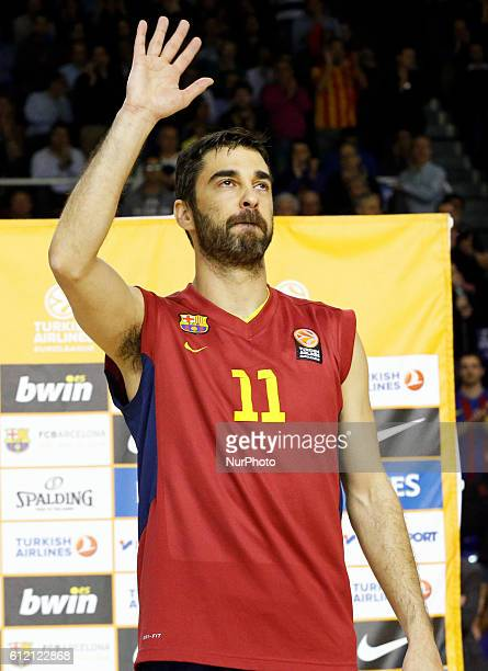 Juan Carlos Navarro becomes the most capped player in the Euroleague in the match between FC Barcelona and Olympiacos for the week 10 of the Top 16...