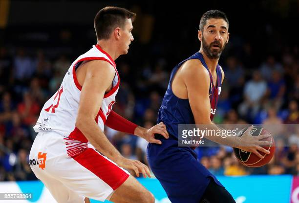 Juan Carlos Navarro during the Liga Endesa match between FC Barcelona v Baskonia in Barcelona on September 29 2017