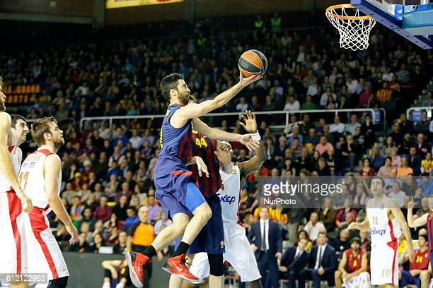 Juan Carlos Navarro in the match between FC Barcelona and Olympiacos for the week 10 of the Top 16 Euroleague basketball match at the Palau Blaugrana...