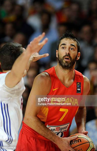 Juan Carlos Navarro of Spain is seen during the 2014 FIBA World Basketball Championship quarter final match between Spain and France on September 10...