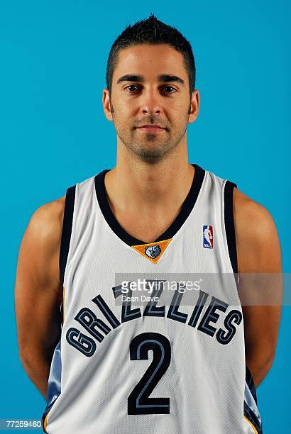 Juan Carlos Navarro of the Memphis Grizzlies poses for a portrait during NBA Media Day at FedExForum on September 28 2007 in Memphis Tennessee NOTE...