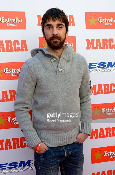 Juan Carlos Navarro poses during a photocall for the European Golden Boot 2012 award on October 29 2012 in Barcelona Spain