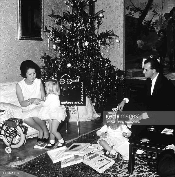 Juan Carlos of Spain with family in Spain on December 29th 1967