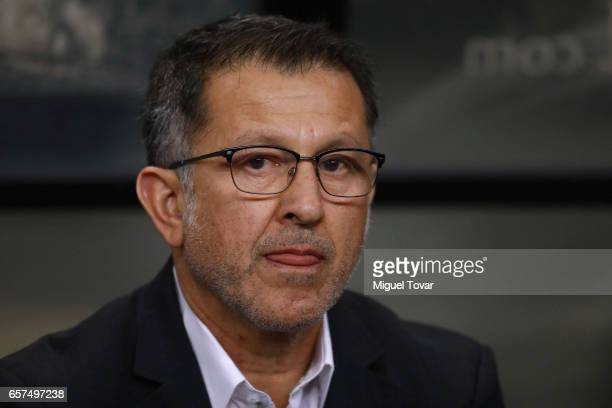 Juan Carlos Osorio coach of Mexico looks on during the fifth round match between Mexico and Costa Rica as part of the FIFA 2018 World Cup Qualifiers...