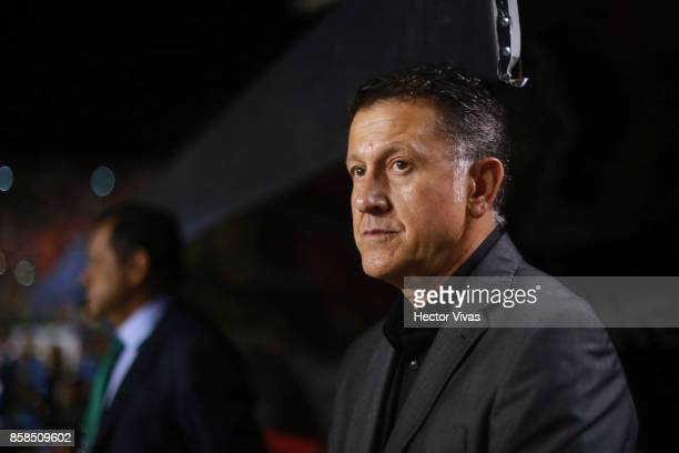 Juan Carlos Osorio coach of Mexico looks on prior the match between Mexico and Trinidad Tobago as part of the FIFA 2018 World Cup Qualifiers at...