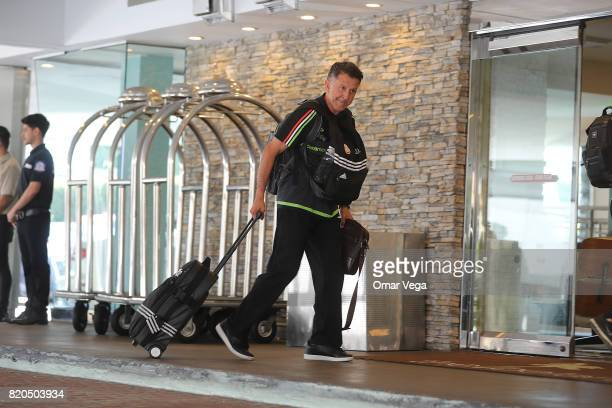 Juan Carlos Osorio coach of Mexico walks during the arrival of the Mexico National Team at Belamar Hotel on July 21 2017 in Los Angeles California