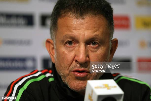 Juan Carlos Osorio head coach of Mexico during the Mexico National Team press conference at Rose Bowl Stadium on July 22 2017 in Pasadena California
