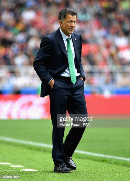 Juan Carlos Osorio head coach of Mexico looks on during the FIFA Confederations Cup Russia 2017 PlayOff for Third Place between Portugal and Mexico...