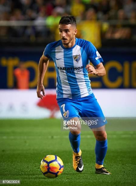 Juan Carlos Perez Juankar of Malaga CF in action during the La Liga match between Villarreal CF and Malaga CF at Estadio de la Ceramica on november 5...