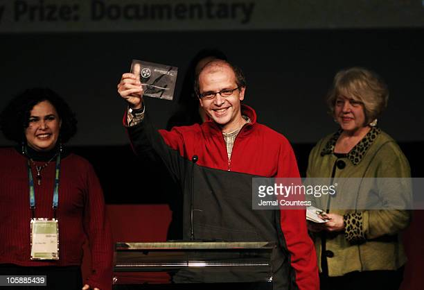 Juan Carlos Rulfo director of 'In the Pit' accepts the World Cinema Jury Prize Documentary