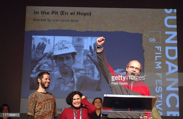 Juan Carlos Rulfo director of In the Pit accepts the World Cinema Jury Prize Documentary