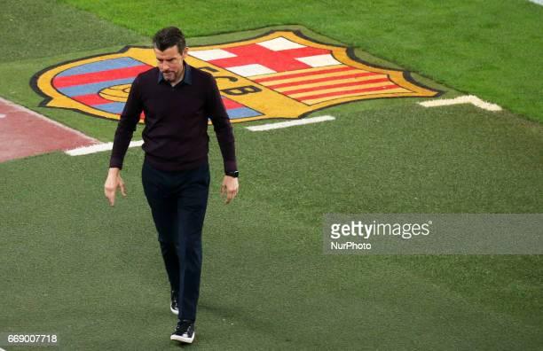 Juan Carlos Unzue during La Liga match between FC Barcelona v Real Sociedad in Barcelona on April 15 2017 Photo Joan Valls/Urbanandsport/Nurphoto