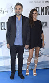 Juan Carlos Vellido and Eva Moreno attend the premiere of 'El Nino' at Kinepolis Cinema on August 28 2014 in Madrid Spain