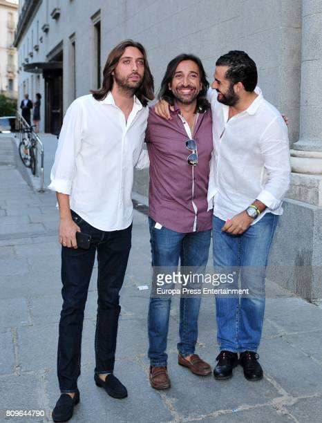 Juan Carmona Antonio Carmona and Emiliano Suarez arrive at Sting's concert at the Royal Teather on July 5 2017 in Madrid Spain