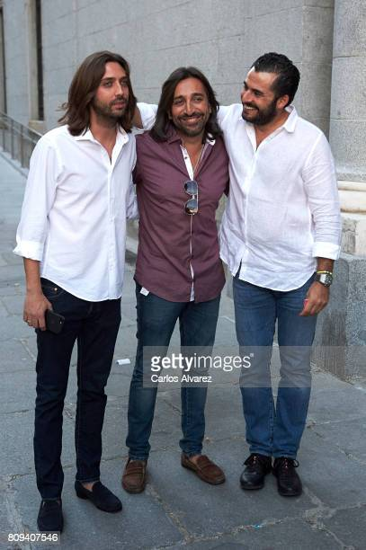 Juan Carmona Antonio Carmona and Emiliano Suarez attend the Sting concert at the Royal Teather on July 5 2017 in Madrid Spain