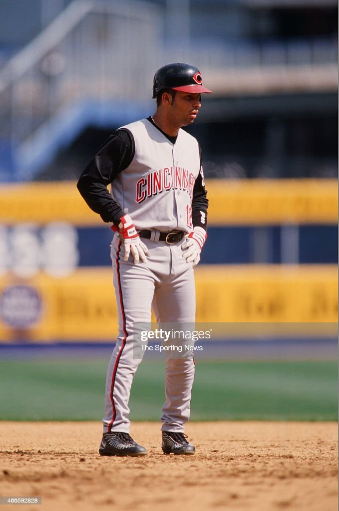 <a gi-track='captionPersonalityLinkClicked' href=/galleries/search?phrase=Juan+Castro&family=editorial&specificpeople=210684 ng-click='$event.stopPropagation()'>Juan Castro</a> of the Cincinnati Reds looks on against the New York Mets during their game on April 15, 2001 at Shea Stadium in the Flushing neighborhood of the Queens borough of New York City.