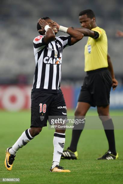 Juan Cazares of Brazil's Atletico Mineiro gestures during their 2017 Copa Libertadores match against Bolivia's Wilstermann held at Mineirao stadium...