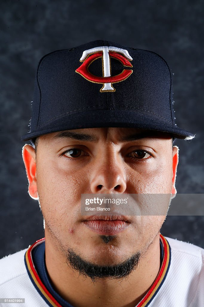 Juan Centeno #80 of the Minnesota Twins poses for a photo during the Twins' photo day on March 1, 2016 at Hammond Stadium in Ft. Myers, Florida.