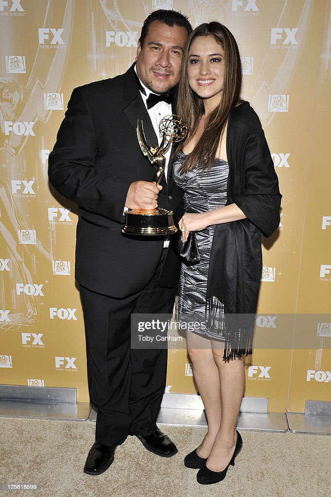 Juan Cisneros and Claudia Hernandez arrive for the Fox Broadcasting Company, Twentieth Century Fox Television And FX 2011 Emmy after party on September 18, 2011 in West Hollywood, California.