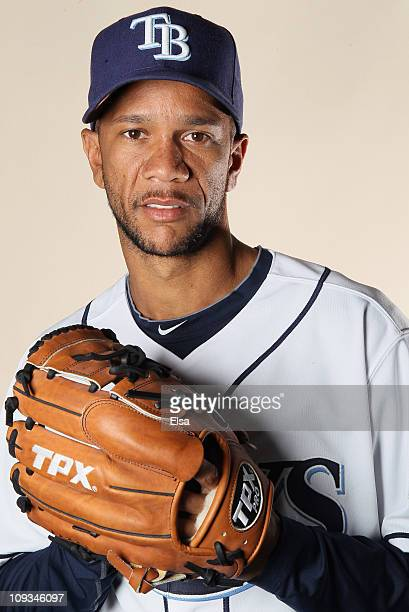 Juan Cruz of the Tampa Bay Rays poses for a portrait during the Tampa Bay Rays Photo Day on February 22 2011 at the Charlotte Sports Complex in Port...
