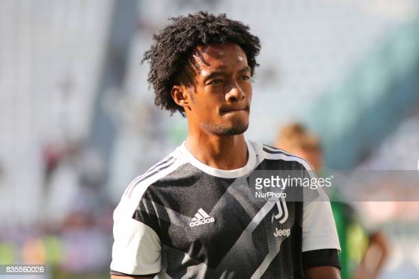 Juan Cuadrado before the Serie A football match between Juventus FC and Cagliari Calcio at Allianz Stadium on august 19 2017 in Turin Italy