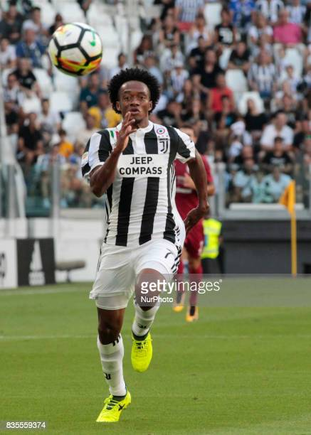 Juan Cuadrado during Serie A match between Juventus v Cagliari in Turin on August 19 2017