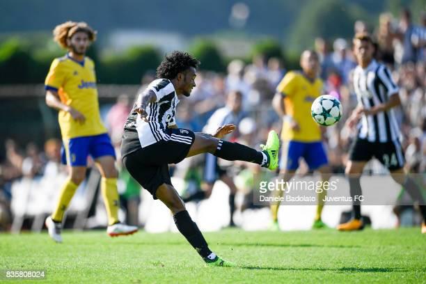 Juan Cuadrado during the preseason friendly match between Juventus A and Juventus B on August 17 2017 in Villar Perosa Italy