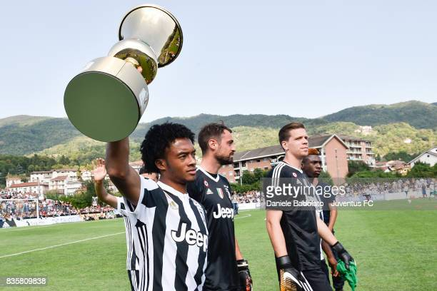 Juan Cuadrado during the preseason friendly match between Juventus A and Juventus B on August 17 2017 in Villar Perosa Italy