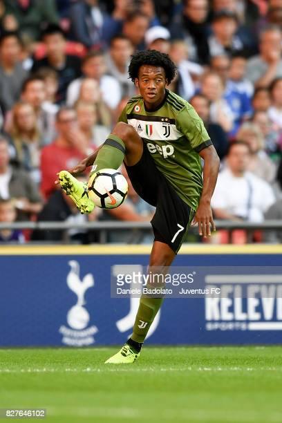 Juan Cuadrado during the Tottenham Hotspur v Juventus PreSeason Friendly match at Wembley Stadium on August 5 2017 in London England