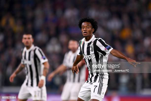 Juan Cuadrado during the UEFA Champions League group D match between Juventus and Olympiakos Piraeus at Allianz Stadium on September 27 2017 in Turin...