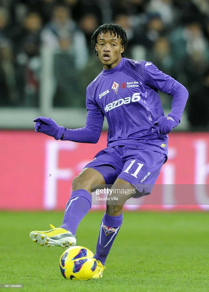 Juan Cuadrado of ACF Fiorentina in action during the Serie A match between Juventus FC and ACF Fiorentina at Juventus Arena on February 9, 2013 in Turin, Italy.