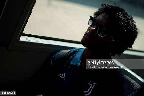 Juan Cuadrado of Juventus departs on August 4 2017 in Turin Italy