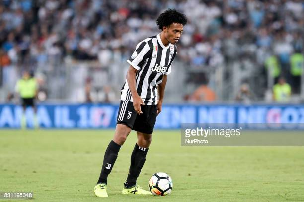 Juan Cuadrado of Juventus during the Italian Supercup Final match between Juventus and Lazio at Stadio Olimpico Rome Italy on 13 August 2017