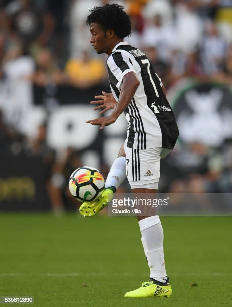 Juan Cuadrado of Juventus FC in action during the Serie A match between Juventus and Cagliari Calcio at Allianz Stadium on August 19 2017 in Turin...