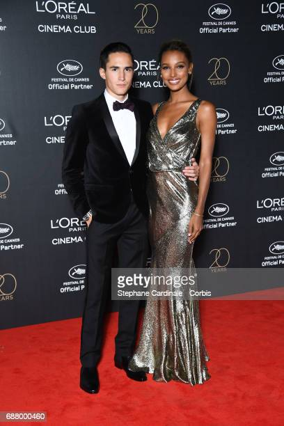 Juan David Borrero and Jasmine Tookes attend Gala 20th Birthday of L'Oreal In Cannes during the 70th annual Cannes Film Festival at Martinez Hotel on...