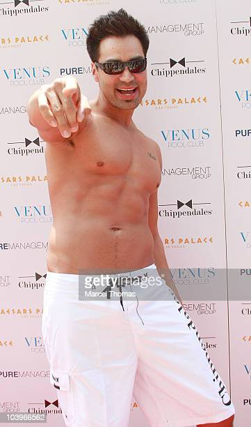Juan De Angelo attends the debut of the Chippendales 2010/2011 calendar at Venus Pool Club on July 31 2010 in Las Vegas Nevada