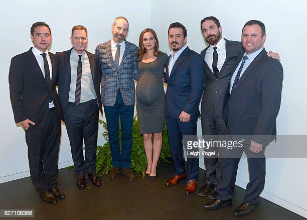 Juan de Dios Larrain Mickey Liddell Noah Oppenheim Natalie Portman Max Casella Pablo Larrain and Scott Franklin attend the 'Jackie' Washington DC...
