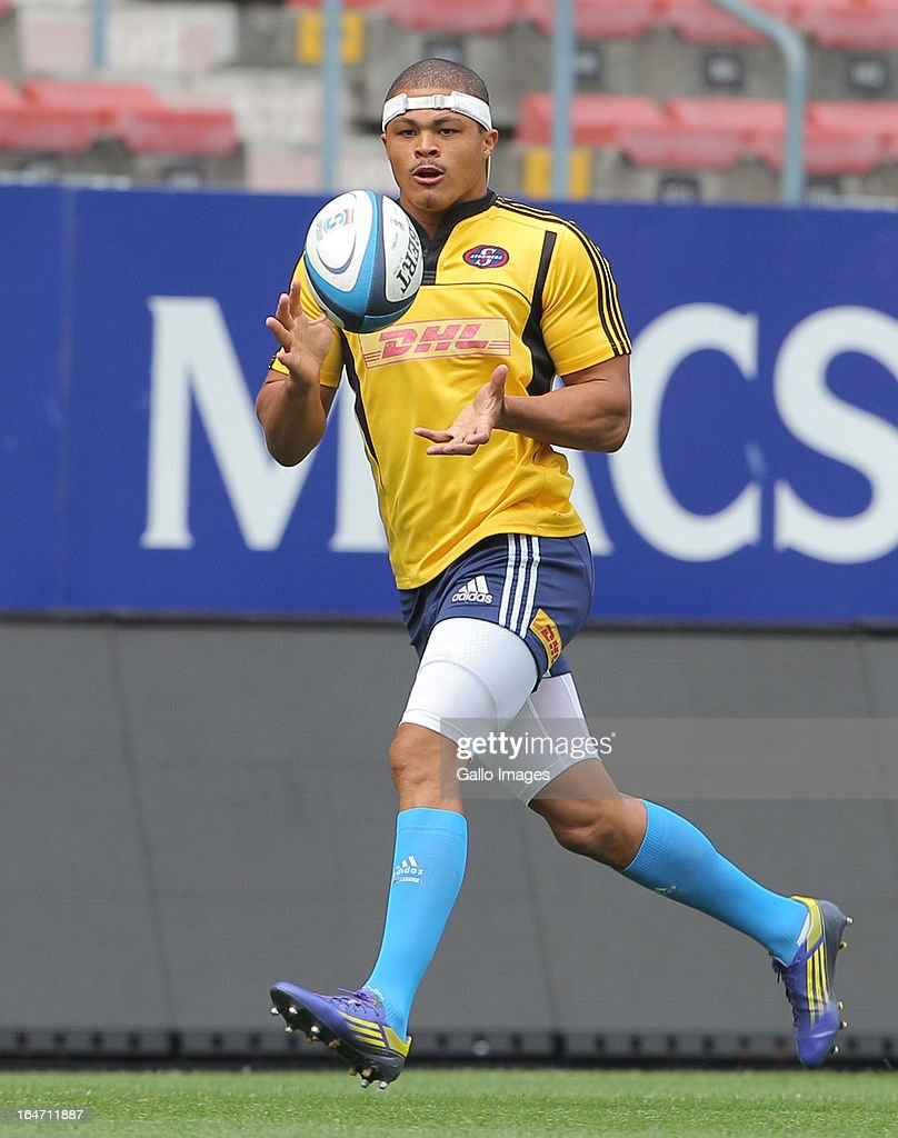 Juan de Jongh of Stormers during the DHL Stormers training session at DHL Newlands on March 27, 2013 in Cape Town, South Africa.