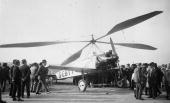 Juan de La Cierva's C8LIII autogyro is admired by crowds at Le Bourget airport near Paris after the Spanish inventor and aviator made the first...