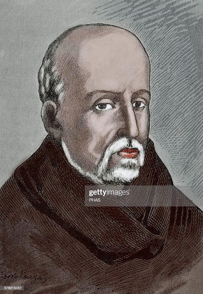 Juan de Mariana or Father Mariana Spanish Jesuit priest Scholastic historian and member of the Monarchomachs Engraving by J Serra Pausas Historia de...