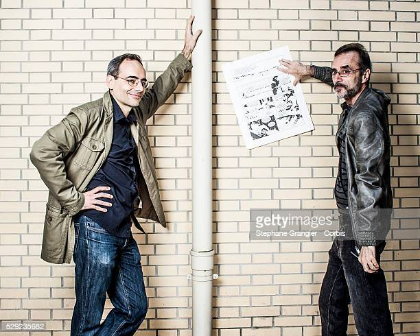 Juan Diaz Canales Author Writer Ruben Pellejero designer draftsman Artist Corto Maltese photographed in Paris