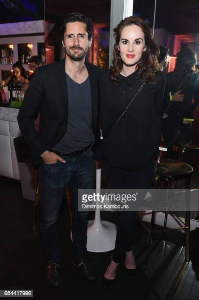 Juan Diego Botto and Michelle Dockery attend the 2017 Adult Swim Upfront Party at Terminal 5 on May 17 2017 in New York City