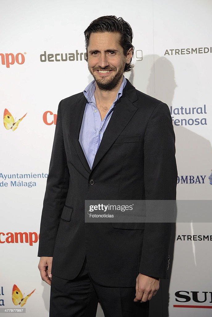 <a gi-track='captionPersonalityLinkClicked' href=/galleries/search?phrase=Juan+Diego+Botto&family=editorial&specificpeople=2250108 ng-click='$event.stopPropagation()'>Juan Diego Botto</a> attends the Malaga Film Festival cocktail presentation at TClub on March 11, 2014 in Madrid, Spain.