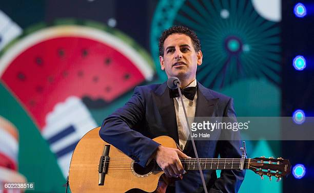 Juan Diego performs on stage at the BBC Proms in the Park at Hyde Park on September 10 2016 in London England